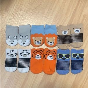 Little Me Baby Animal Socks - 0-12 M